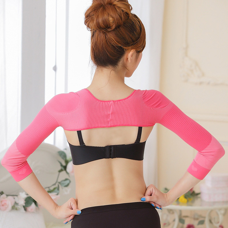 Elastic Compression Arm Slimmer Back Shoulder Corrector Long Sleeve Weight Loss Arm Control Shapewear FK88 image