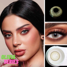 2 шт Оливия серии Цвет ed контактные линзы для глаз натуральный
