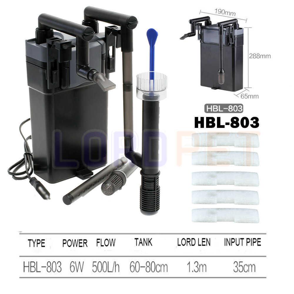 SunSun يعلق على شلال تصفية مع مقشدة 500l/h 60-80 سنتيمتر حوض السمك تصل إلى 150l خزان متعددة المرحلة تصفية قابل للتعديل تدفق HBL803