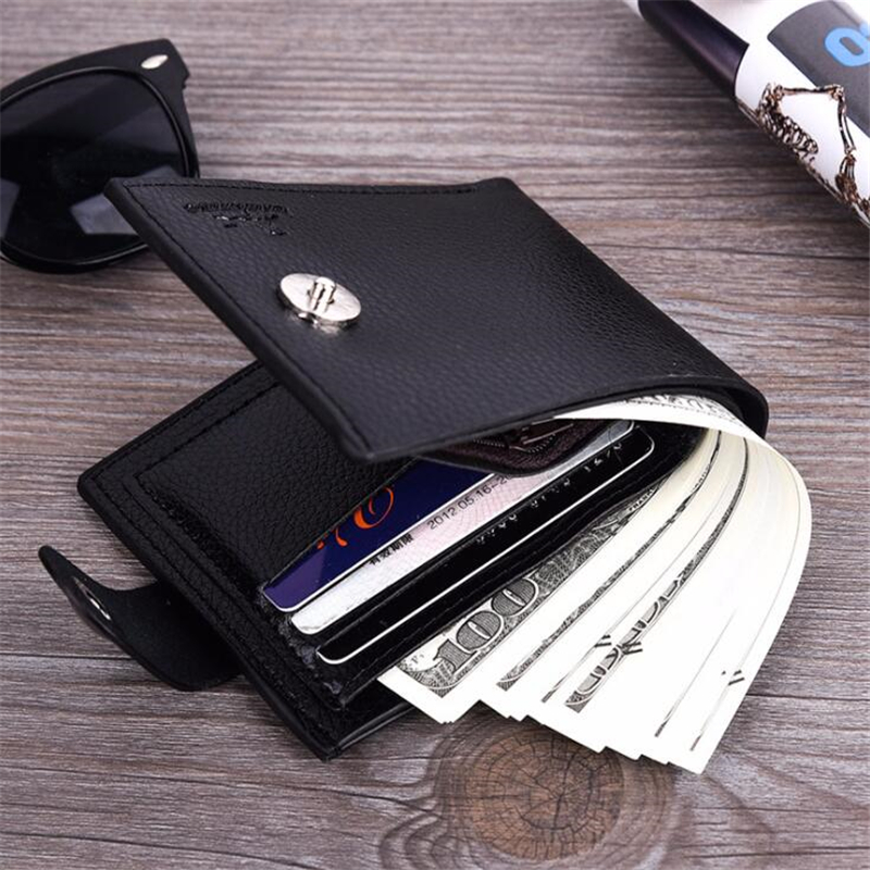 Hot Multifunction Purse Men Small wallet PU Leather Short Men's Wallet Male Card Holder Money Bag Portefeuille Homme carteira
