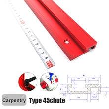 T-образный паз Митры колеи джиг приспособление пильного стола парашют для маршрутизатор стол деревообработка ленточные пилы DIY Инструменты Тип-45 со шкалой