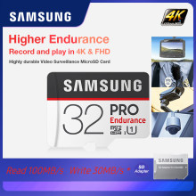 SAMSUNG Memory Card PRO Endurance read up to 100MB/s 128GB 64GB 32GB microSDXC/SDHC Class 10 TF Card UHS-I Trans Flash Card