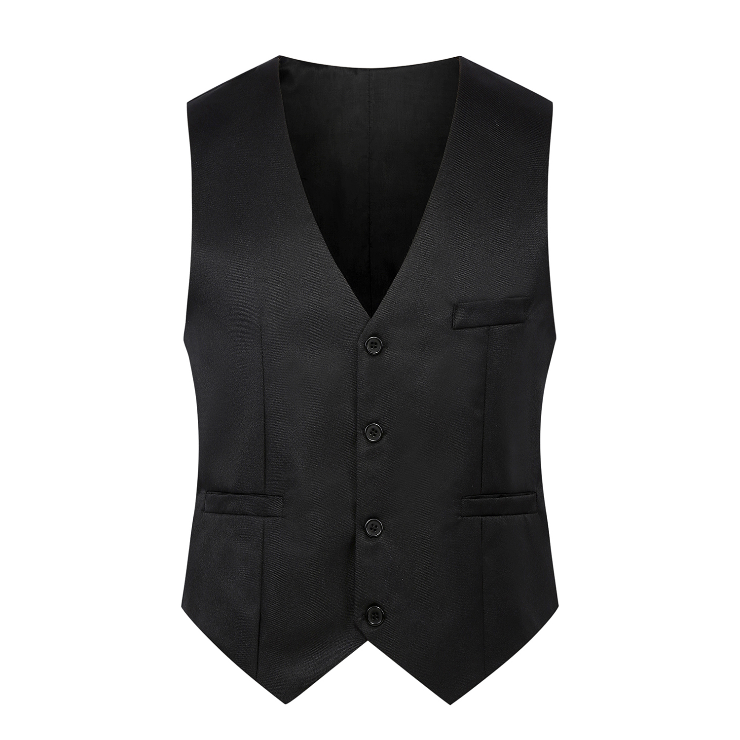 2019 Autumn New Formal Men's Black Vest XS-4XL