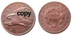 США 1855 новый Летающий орел цент копия украшения монеты