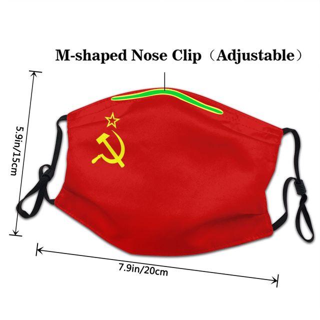 Многоразовая маска для лица с флагом Советского Союза, защита от пыли, респиратор 3