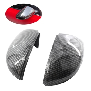 Side Mirror Covers Caps(Carbon Look)Replacement Carbon Mirror Caps For Vw Golf 6 Jetta Mk6 Gti Gtd R20 Exterior Mirror(China)