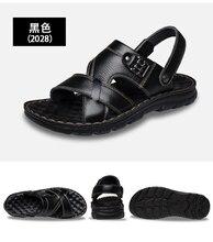 Men Genuine Leather Sandals Summer Classic  Shoes Slippers Soft Sandals Men Roman Comfortable Walking Footwear men genuine leather sandals summer classic shoes slippers soft sandals men roman comfortable walking footwear