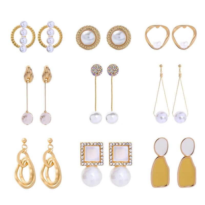 Pendientes de oro de la colección de perlas de la joyería de la India encanto pendientes de moda de las mujeres Nuevo accesorio precio especial