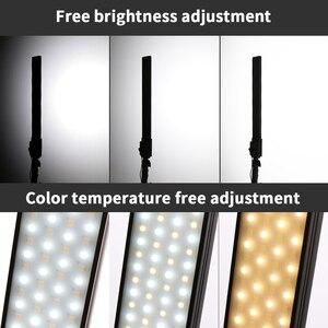 Image 2 - GSKAIWEN 2 paket dim bi renkli fotoğrafçılık aydınlatma stüdyosu LED Video ışık kiti tripod standı portre ürün ateş
