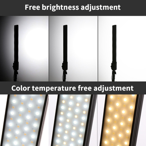 Image 2 - GSKAIWEN 2 حزم عكس الضوء ثنائي اللون التصوير الفوتوغرافي الإضاءة استوديو LED الفيديو الضوئي عدة مع حامل ثلاثي القوائم لتصوير صورة المنتج