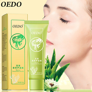 OEDO Seaweed Aloe Gel Remove Acne Scar Moisturizing Whitening Cream Shrink Pore Smooth Skin Moisturizing Essence Face Treatment rose soap 100% natural handmade 120g hair skin beauty whitening moisturizing cleaner antibacterial acne treatment