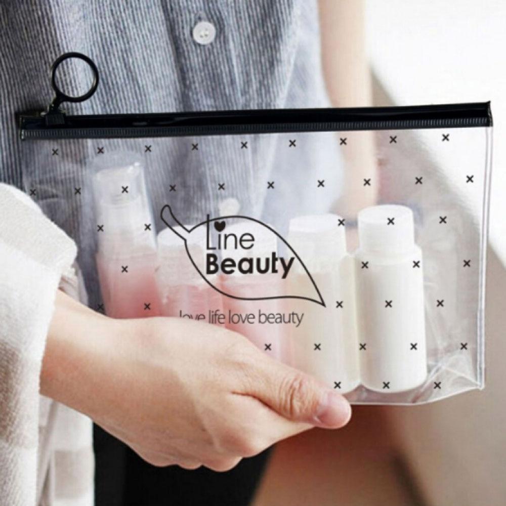 1PC Women Cosmetic Bags Waterproof Transparent Travel Bag Portable Make Up Bag Toiletry Organizer Storage Makeup Bag Wash Pouch