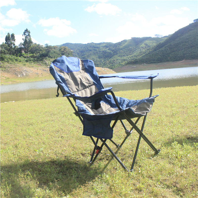 Temperate Gweger Folding Portable Beach Chair With Cotton Stool Director Fishing Leisure Back Three Adjustable Lunch Break Lounge Chair Fine Quality