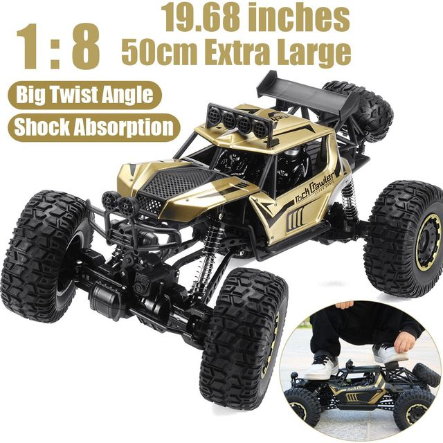 1:8 50cm RC Car 2.4G Radio Control 4WD Off-road Electric Vehicle Monster Buggy Remote Control Car Gift Toys For Children Boys 2