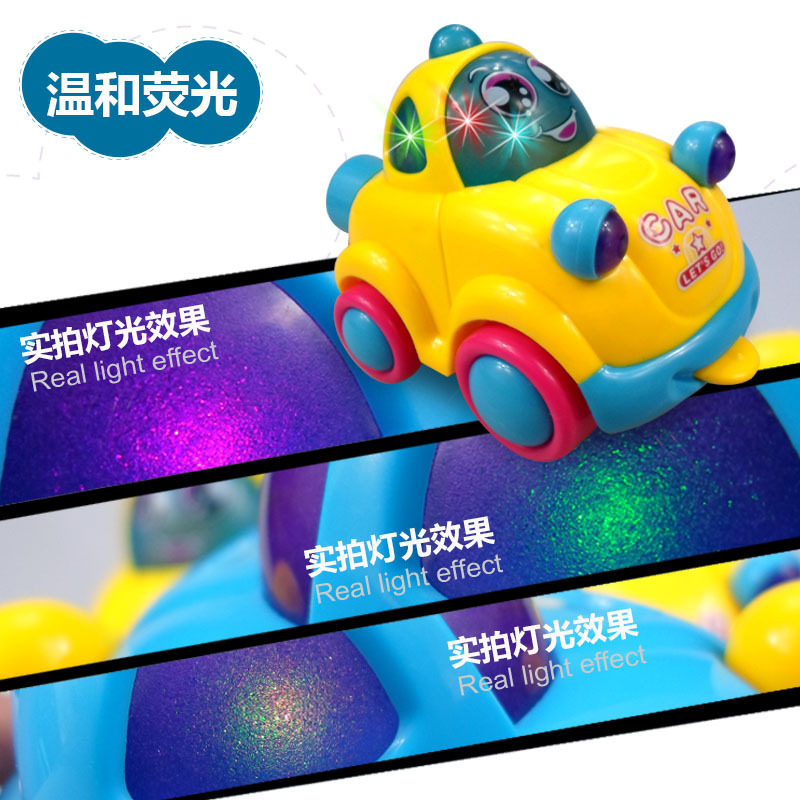 9904 Cartoon Electric Universal Classic Car Children Light Music Tongue Headband Motion Toy Car Gift