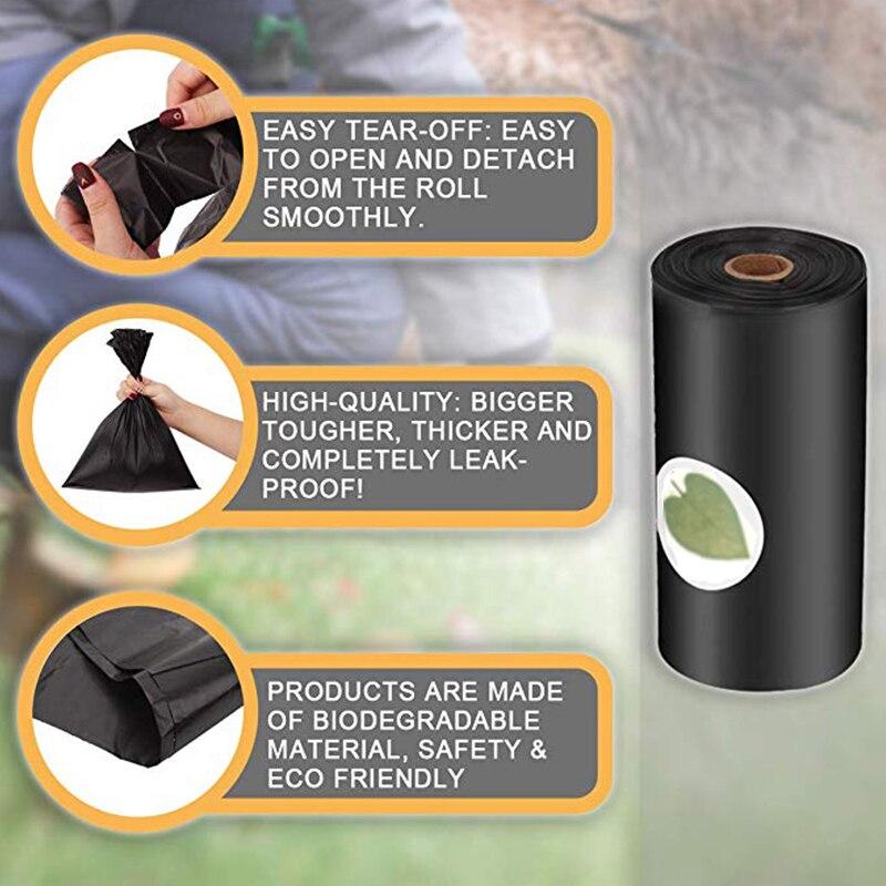 Biodegradable Dog Poop Bag Eco-Friendly Pet Waste Bags with Dispenser Outdoor Clean Pet Poop Bags Dog walking Supplies 3