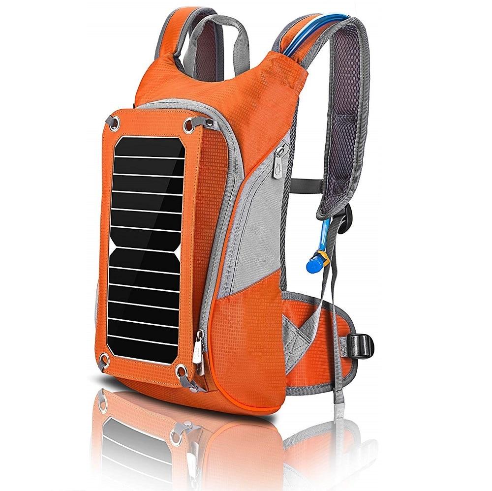 HOWO Men Hiking Daypacks Multifunctional Traveling Backpacks Business Shoulder Bag With Solar Panel For Phone, Camera, Laptop