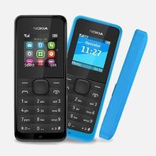 Original Refurbished NOKIA 105 Dual Sim Good Quality Unlocked 2G GSM Mobile Phone & No Hebrew