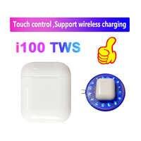 I100 tws bluetooth 5.0 słuchawki bezprzewodowe słuchawki z mikrofonem sterowanie dotykowe wsparcie bezprzewodowe ładowanie pk i20 i30 i60 i80 tws dla IOS/Android
