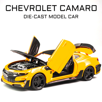 2020New 5 Style Chevrolet Camaro 1:32  Model Car Decoration Trimming Simulation Alloy Pull Back