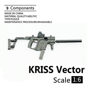 1:6 KRISS векторный пистолет, пластиковый Собранный пожарный пазл, модель для 1/6 солдат, военное оружие, строительные блоки