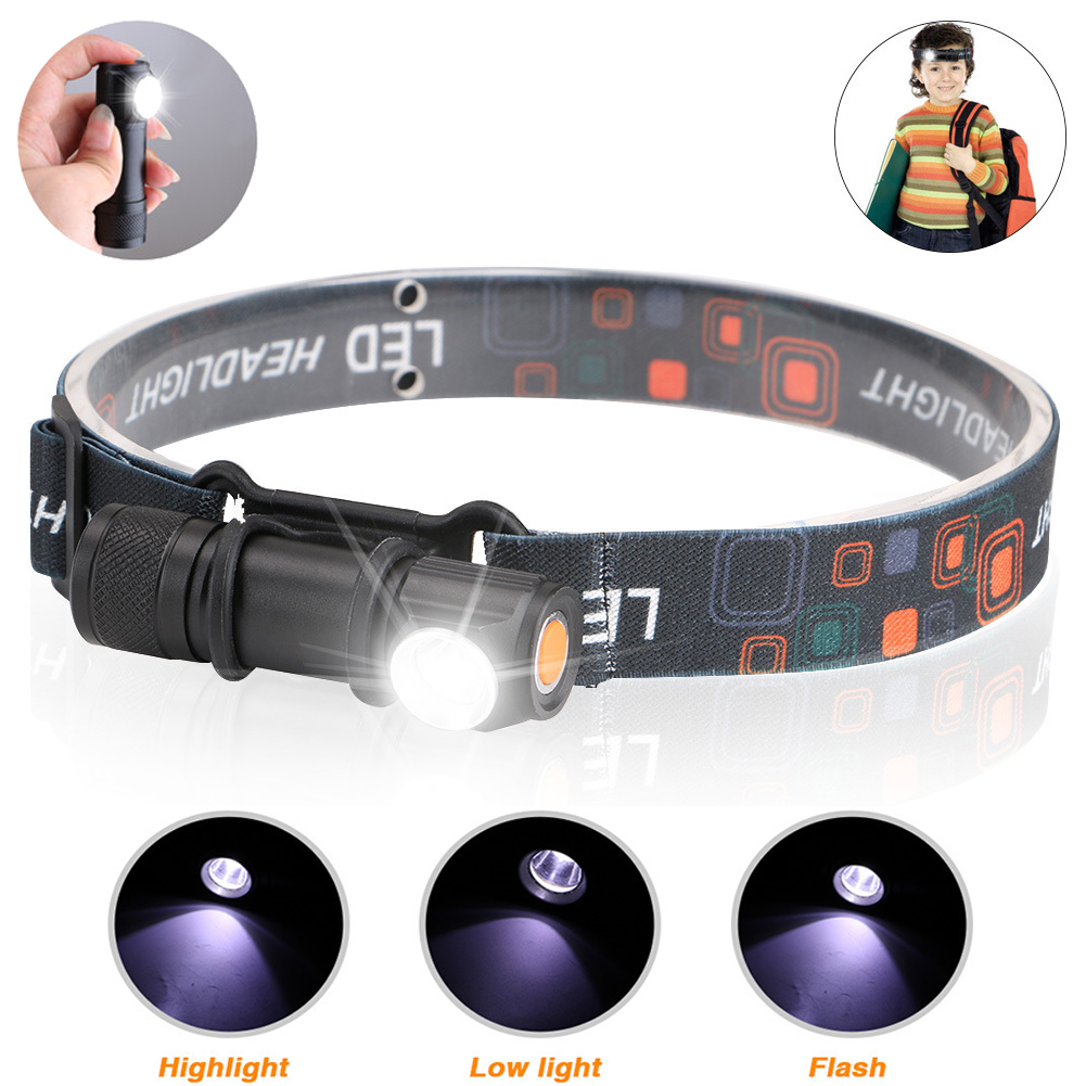 USB Rechargeable Headlamp Headlight LED Flashlight Head Torch Portable Lanterna 3-Mode Magnetic Work Light For Camping Fishing