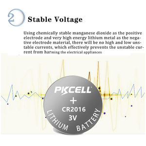 Image 3 - 10Pcs 2Pack PKCELL CR2016 CR 2016 Battery 3V DL2016 KCR2016 LM2016 BR2016 EE6277 Lithium Button Coin Cell Bateria Batteries