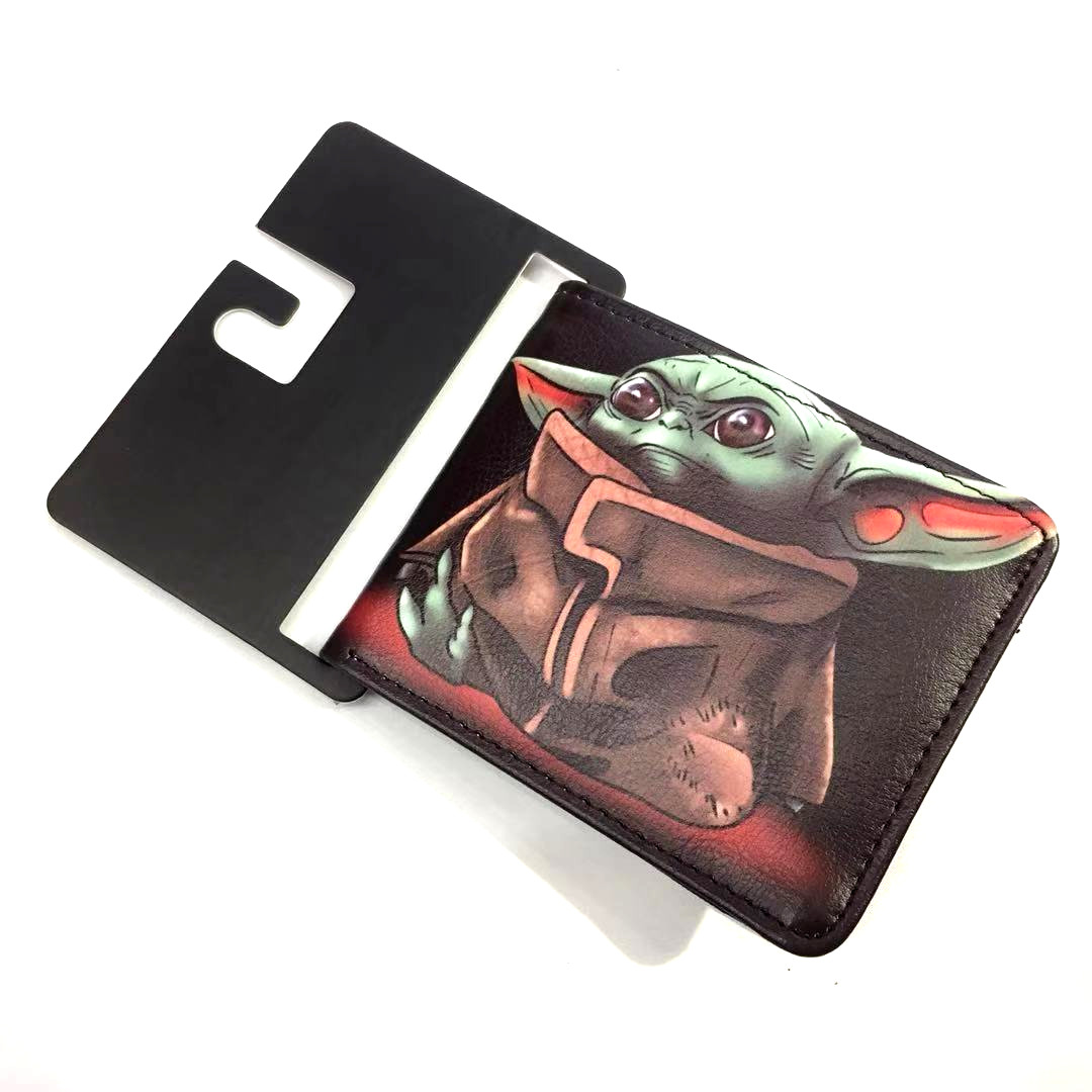 12 Type Star Wars Baby Yoda Men Faux Leather Wallet Coin Purse Unisex ID/Credit Card Holder