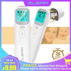 Image 1 - Elera Baby Infrarood Thermometer Digitale Lcd Body Meting Voorhoofd Oor Non contact Kinderen Volwassen Koorts Ir Termometro