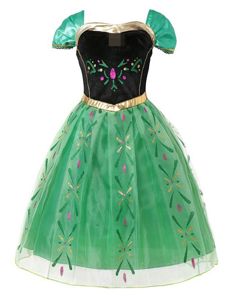 Princess Belle Party-Dress Cosplay-Costume Jasmine Sofia Rapunzel Elsa Anna Baby-Girl
