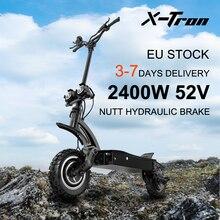X-Tron X20 70 км/ч Электрический скутер 2400 Вт двухмоторный скутер для взрослых NUTT гидравлический тормоз Электрический мотоцикл светодиодный све...
