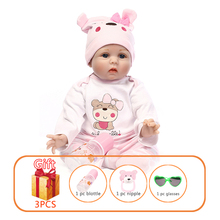 NPK 55cm Baby Silicone Dolls Reborn Dolls Vinyl Simulation Dolls Handmade Reborn Baby Cotton Toy Toddler Soft Dolls Toys for Kid npk american pink girl dolls with long hair simulation vinyl silicone reborn baby for alive children play house toys