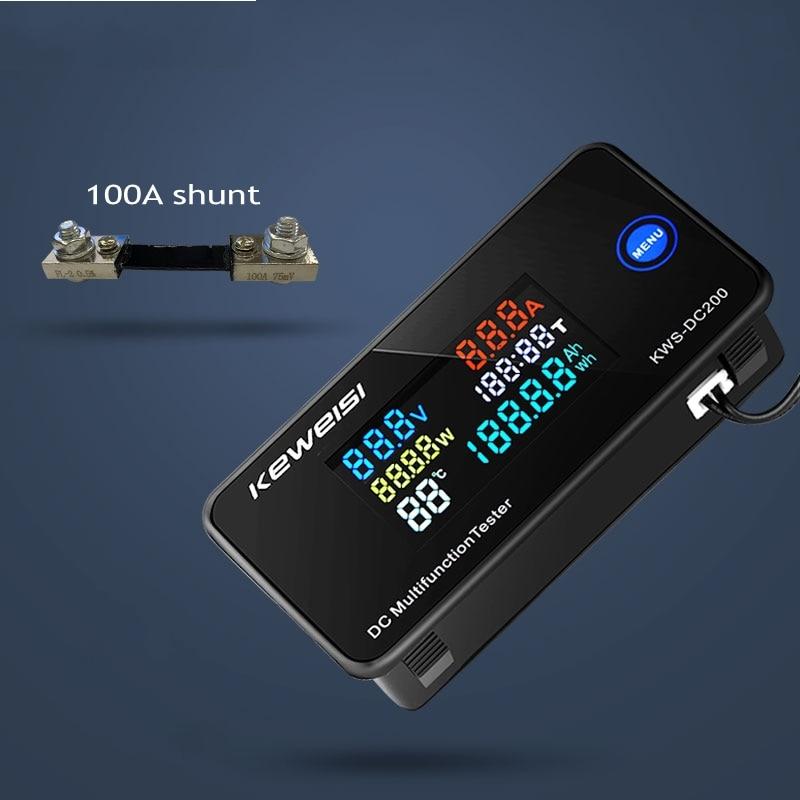 Вольтметр-амперметр, амперметр постоянного тока 0-200 В, 50 А, а, тестер для автомобильных аккумуляторов, измеритель напряжения электроэнергии,...