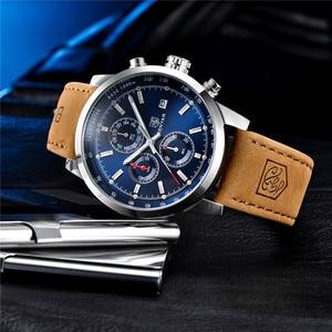 Image 2 - BENYAR 2020 New Blue Men Watches Top Brand Luxury Waterproof Sport Quartz Chronograph Military Watch Men Clock Relogio Masculino