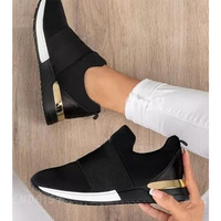 2021 Autumn Sneakers Women Platform Vulcanized Shoes Ladies Solid Color Slip-On Sneakers Female Casual Sport Shoes Plus Size 43 1