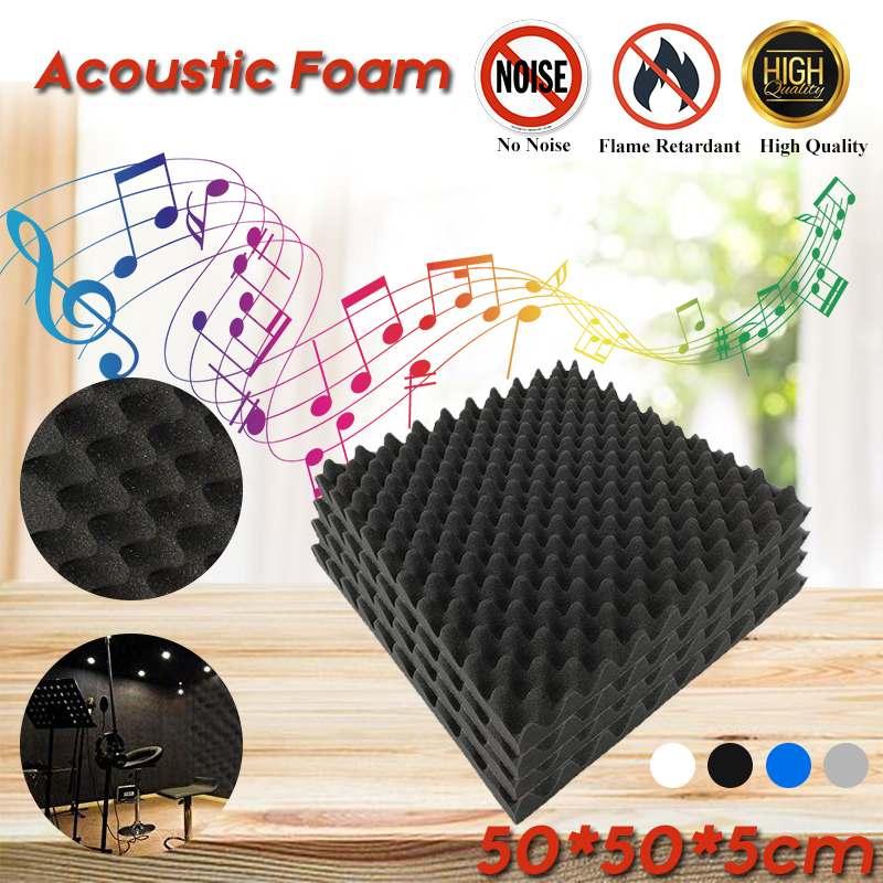 4PCS Soundproofing Foam Acoustic Foam Sound Treatment Studio Room Absorption Tiles Polyurethane Foam Wall Panels