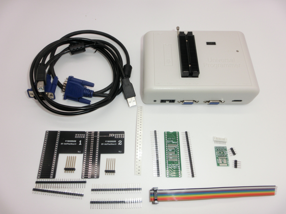 Free Shipping Original RT809H EMMC-Nand FLASH Extremely Fast Universal Programmer +39 Items+Edid Cable WITH CABELS EMMC-N