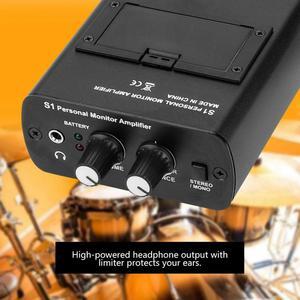 """Image 3 - אישי אוזן צג אוזניות מגבר באוזן ניטור מערכת עבור ANLEON S1 בשלב סטודיו 100 240V ארה""""ב האיחוד האירופי AU Plug אופציונלי"""
