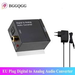 EU Plug Digital To Analog Audio Converter Output Optical Digital Stereo Audio SPDIF Coaxial To Analog DAC Aamplifier To RCA R/L
