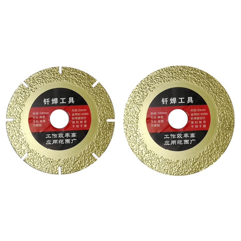 Circular Diamond Saws Blade 100mm Outer Diameter Multi-purpose Rotary Cutting Disc For Granite Marble Tile Ceramic