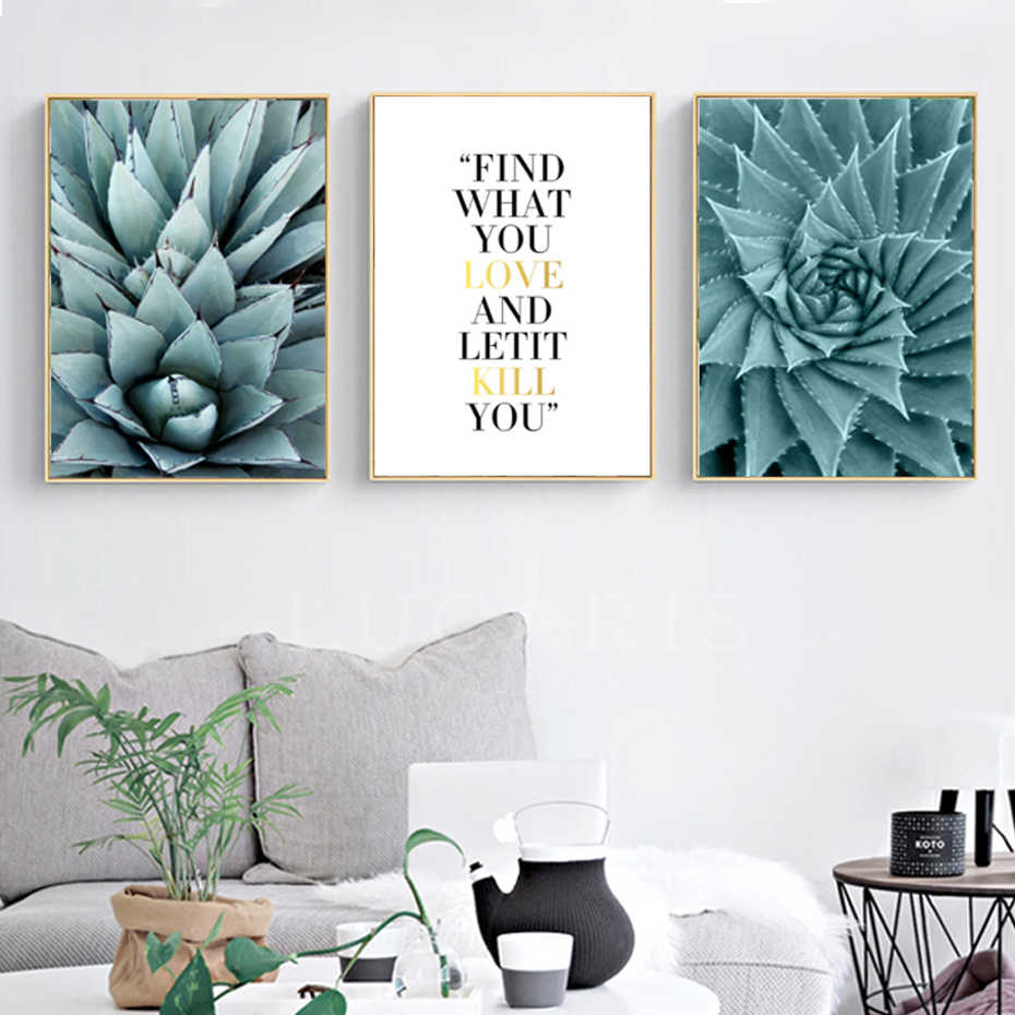 Nordic Pineapple Leaves Life Quotes Inspiring Canvas Print Paintings Wall Art Poster Picture For Living Room Home Decor No Frame Prints Pictures Picture For Living Roomcanvas Painting Aliexpress