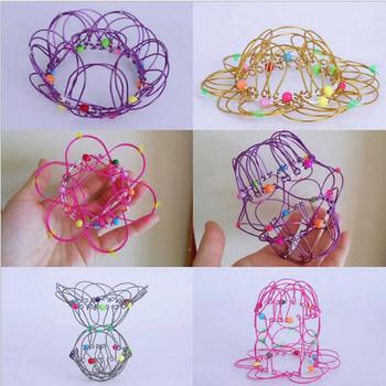 2PC zabawki typu Fidget poput Make Magic Steel żelazny pierścień dekompresji elastyczny kosz miękkie magiczne zabawki anty stres prezenty dla dzieci Juguetes tanie i dobre opinie CN (pochodzenie) none 8 ~ 13 Lat Chiny certyfikat (3C) Sport Iron ring ornament toy