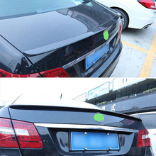 Use For Benz E Class W212 Spoiler 2008--2015 Year Sedan 4-door Glossy Real Carbon Fiber Rear Wing A Style Accessories Body Kit