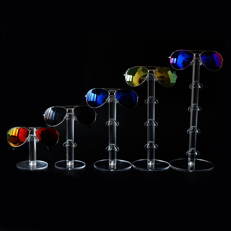 High Quality Acrylic Sunglass Display Stand Shelf Eyeglasses Showcase Rack Jewelry Holder Glasses Display Props For 1 To 5 Pairs