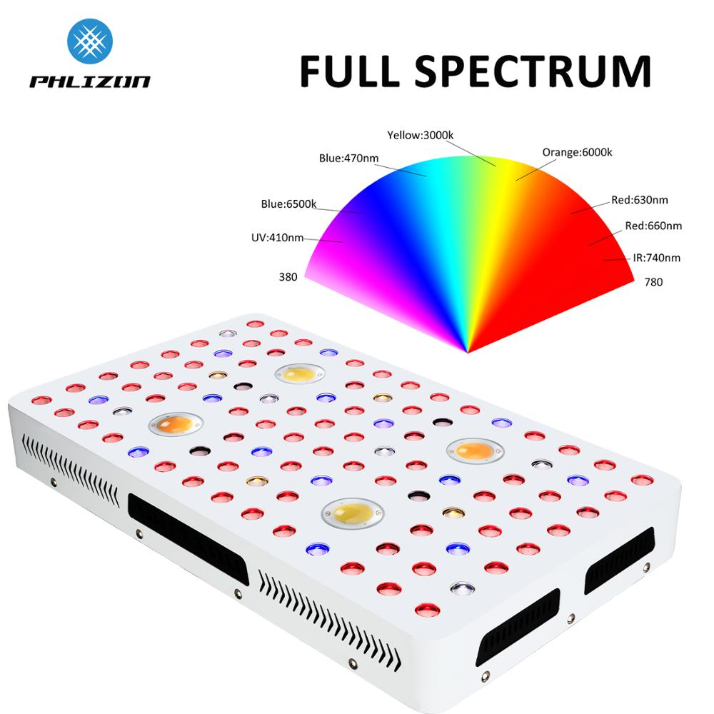 Phlizon 2000W Plant LED COB Full Spectrum Grow Light For Greenhouse Indoor Plants Vegetable And Flower,Veg/Bloom Plant Lamp Led
