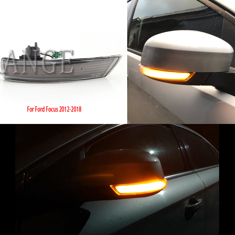 Side Mirror Turn Signal <font><b>Light</b></font> for <font><b>Ford</b></font> <font><b>Focus</b></font> 2 3 Mk2 Mk3 Mondeo Mk4 2008-2018 LED Dynamic Wing Rearview Indicator Blinker <font><b>Light</b></font> image