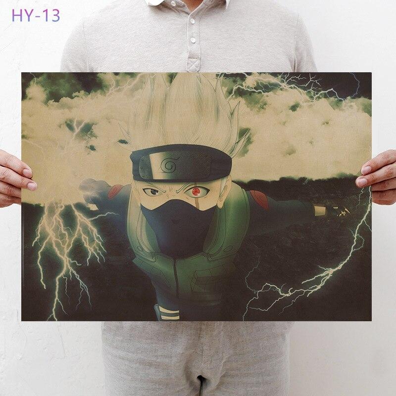 Постер Naruto Винтаж Классический Аниме Мультфильм крафт-бумага плакат живопись настенные наклейки домашние декоративные - Цвет: HY-13