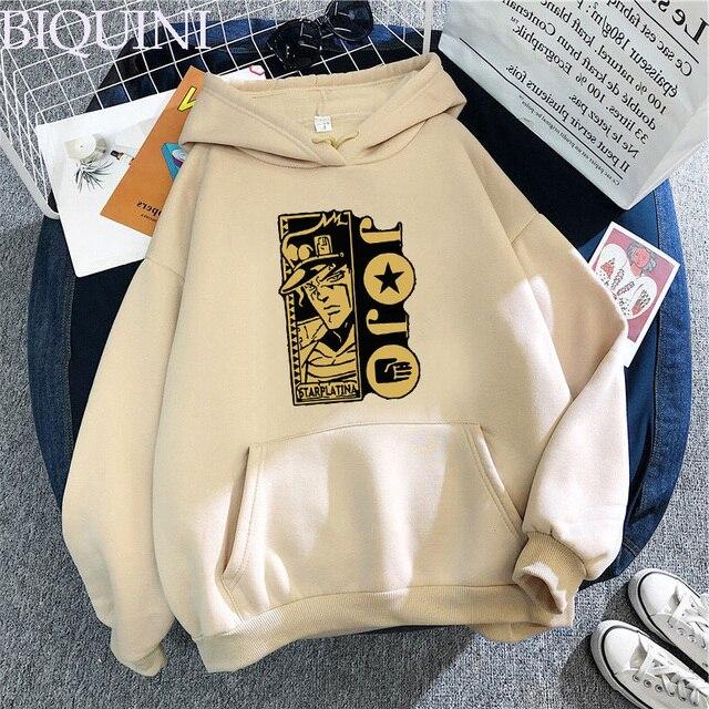 Harajuku Fashion JoJo's Bizarre Adventure Hoodies Sweatshirts Mens Hoodie Hot Fashion Suitable Kids JoJo Boys Girls Pullover Top 2