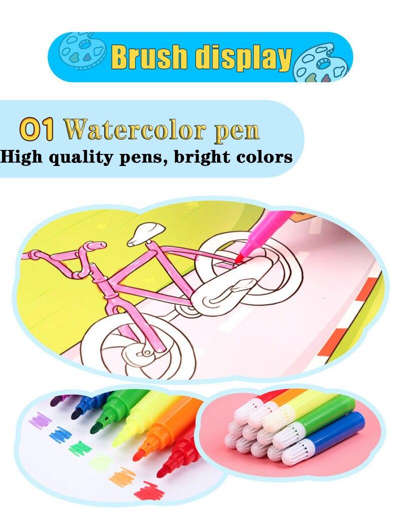 lápis lápis aquarelas canetas desenho conjunto brinquedo