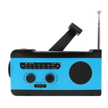 Emergency Noaa Weather Crank Solar Powered Portable Radio with 2000Mah Battery Power for Cell Phone, Bright Flashlight and Sos mbr cell power neck